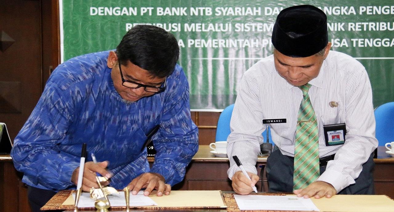 Bappenda-NTB-Gelar-Penandatanganan-Kerjasama-E-retribusi-dengan-Bank-NTB-Syariah